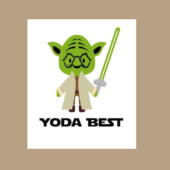 Star Wars Yoda Best Card Yoda Card You're the Best Card
