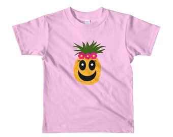 Pineapple with Flowers Toddler t-shirt