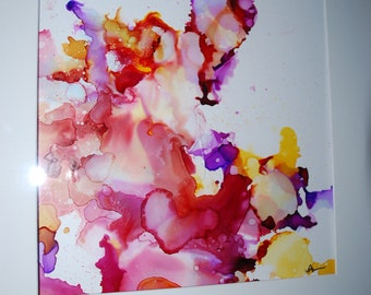 """Abstract ink painting  """"summer blots"""""""