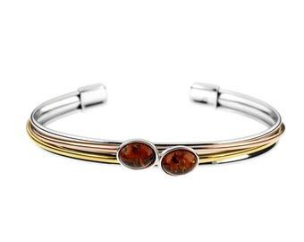 Bracelet bracelet in amber cognac on silver 925 and vermeil, rush bracelet, elegant bracelet, amber, amber jewelery, amber jewelery,