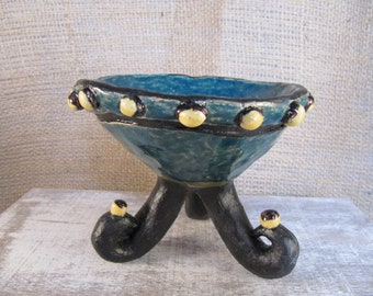 SALE footed bowl tripod legs