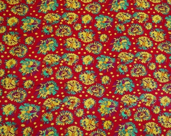 "Abstract Print Fabric, Dress Material, Red Fabric, Home Decor Cotton Fabric, Sewing Craft, 42"" Inch Designer Fabric By The Yard ZBC5871"