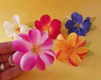 Amara plumeria hair flower clip - more colours