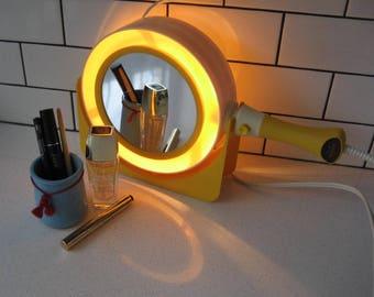 BOGO 40% OFF // Vintage Lady Kenmore Look-a-light Lighted Regular & Magnifying Mirror - Fog-free - Sears - Retro make-up or shaving mirror