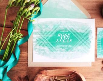 Watercolor Wedding Invitations / DIY PRINTABLE Bohemian wedding invitations / Boho wedding / Beach wedding invitations / Destination Wedding