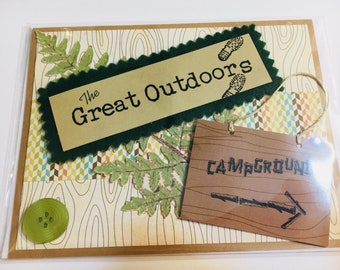 The Great Outdoors Handmade Greeting Card Perfect for Father's Day Birthday or Any Occasion Father Grandfather Husband Brother Son Camping