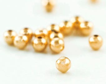 14kt Gold Filled Smooth Round Beads - You Pick Size 2.5mm, 3mm, 4mm, 5mm, 6mm, 7mm, 8mm, 10mm