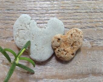 STONE HEARTS...12 natural undrilled beachstones, organic supplies,love rocks,wedding token,zen