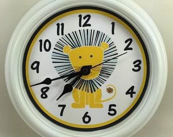 LION, King of the Jungle, Nursery Wall Clock