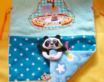 Changing mat Nomad ZOO animal patterned cotton reversible