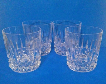 4 Cristal D'Arques Durand Barcelona Crystal Old Fashioned Glasses