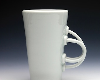 Something Blue Celadon Porcelain Coil Handle Cup