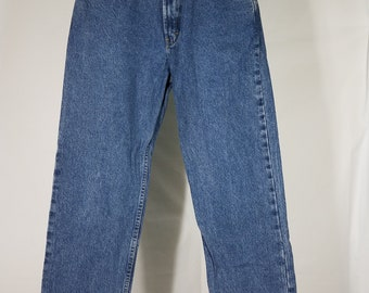 Tommy Hilfiger blue dark wash 100% cotton high rise Mom Jeans ladies size 6