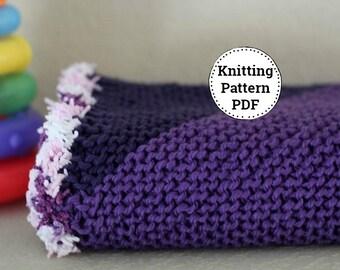 Knit Baby Blanket Pattern, Knitting Pattern, Baby Blanket Pattern, Chunky Knit Blanket Pattern, Knit Afghan