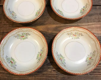 Lot of 4 Charming wexford china saucers, bowls.
