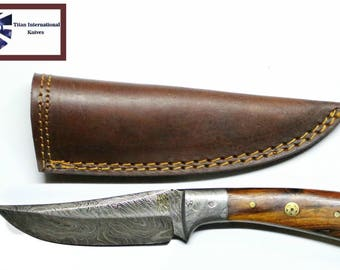 Damascus knife, Hand forged Damascus, Hand made hunting knife by Titan Td-174