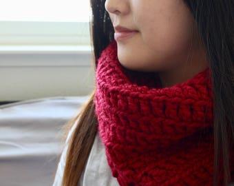 Crochet Cowl - Cranberry