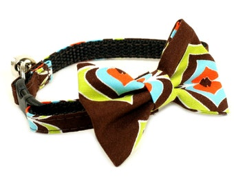 "Ready To Ship Small 3/8"" Cat Bow Tie - A Chocolate Treat - no collar included"