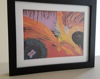 U-Turns of the Mind - Abstract Art by AJ, Framed Print