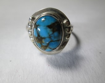 ring, size 6 1/2... turquoise in sterling silver