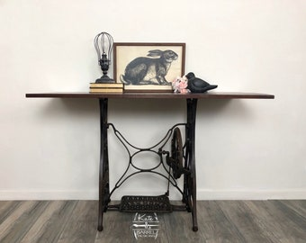 Vintage Sewing Machine Base Table