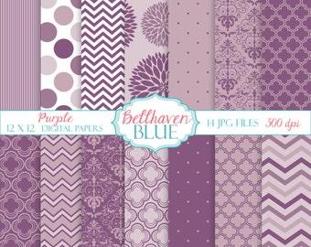 Shades of Purple Digital Paper