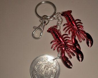 Louisiana Mardi Gras/Crawfish Keychain