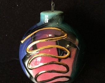 World Cup of Sales Hand Painted Ceramic Christmas Tree Ornament in Box