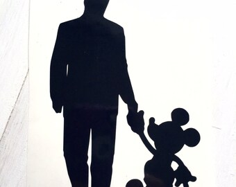DIY A Man and His Mouse Vinyl Decal, Car Window Decal, Laptop Decal, Cell Phone, Frame it, Mouse, Silhouette Decal