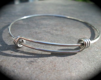 """STAINLESS STEEL bangles adjustable wire bangle bracelet blanks sold per piece Beautiful Quality 2 1/2"""""""