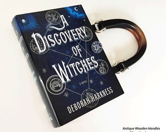 A Discovery of Witches Recycled Book Purse - All Souls Trilogy Book Purse - Literary Gift - Book Clutch - Purse made from a book