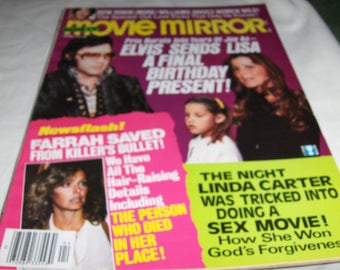 Movie Mirror magazine with Elvis, Lisa Marie and her mother - April 1979