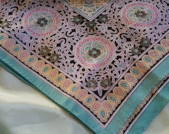 Lacy Design Oscar Silk Scarf vintage