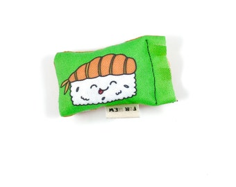 Sushi Green Bean Organic Eco Friendly Catnip Cat Toy For Mew, Gift For Cat Lover