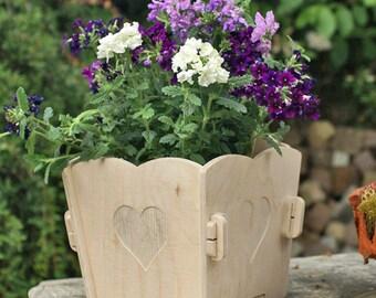 Flower pot   planter for walls *HEART