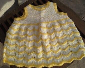 Main.vetement vintage knitted baby girl dress