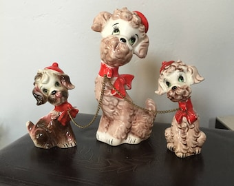 Orion Japan Vintage Dog with chained Puppies