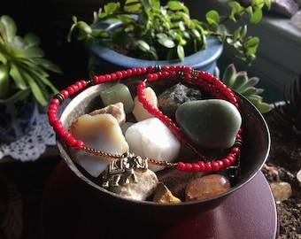 Elephant Seed Bead Necklace