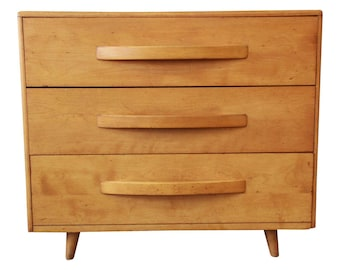 Heywood Wakefield Mid-Century Modern Three-Drawer Bachelor Chest