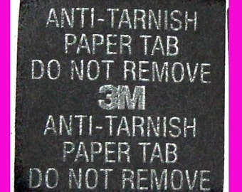 3M Anti-Tarnish Protector Paper tab jewlery silver gold protection 1 inch 50 pieces