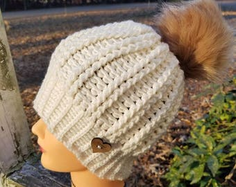 Alridge Beanie with bonus Messy bun pattern