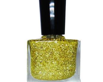 24 Karat Gold Glitter Nail Polish