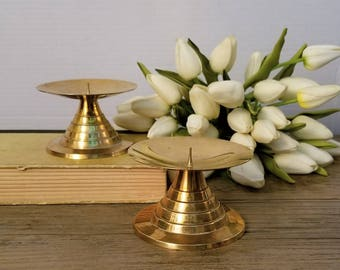Solid Brass Pedestal Candle Holder