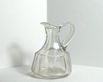 Vintage Blown Glass Cruet Bottle - Olive Oil / Vinegar