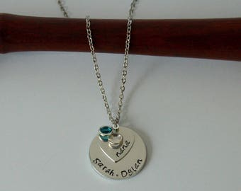 Personalized Nana Necklace, Birthstone Jewelry, Grandma gift, Oma Necklace, Gift For Mom, Cadeau voor Oma, Special Gift, Handmade Jewelry
