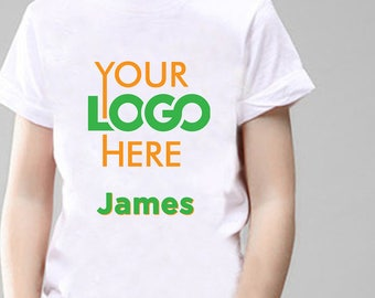 Your Logo Personalised T-Shirt, Printed With Any Name.