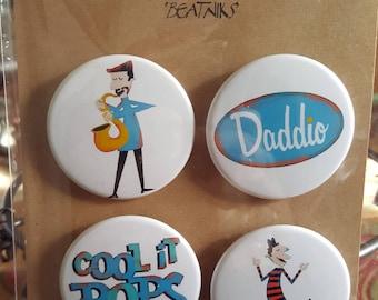 Beatniks IV - Pinback Badges