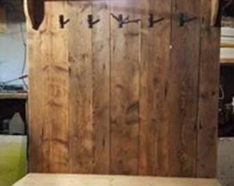 Mudroom bench rustic