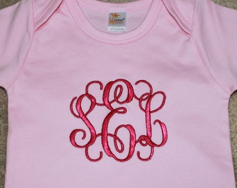 Baby Girl Monogram Outfit - Baby Girl Clothes - Personalized Baby Girl Bodysuit - Toddler Shirt - Monogrammed Girl Shirt - Shower Gift