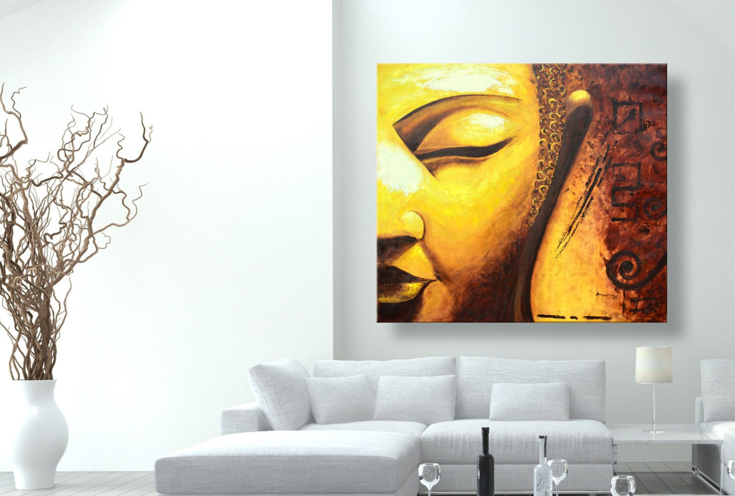 Oil painting paintings on canvas Golden Buddha